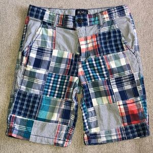 Boy's Plaid Chino Shorts 8